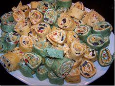 Marci baby shower food  LOVE mexican pinwheels