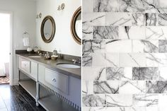 """Designers We Love: Kishani Perera explains how to use texture, color, and layers to get white """"right"""" in bathroom design. Bathroom Pictures, Bathroom Ideas, Bathroom Things, Bathroom Designs, Marble Showers, Custom Vanity, Modern Baths, Dream Bathrooms, Bath Remodel"""