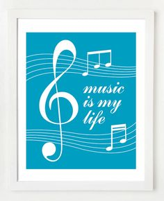 Music Quote 8x10 Wall Art Print by OwlUNeedIsLove on Etsy, $12.95