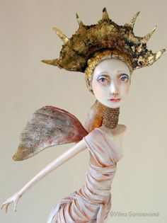 OOAK art doll Angel by VilmaDollsHouse. I like the face design and coloring.