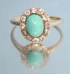 Antique Victorian Turquoise and Old Mine by magwildwoodscloset, $699.00