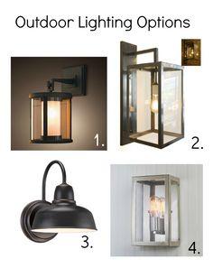 exterior lighting options.