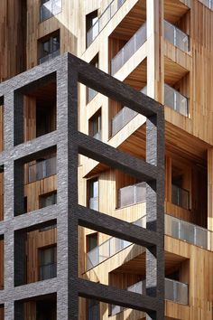 Hawkins\Brown has paired cross-laminated timber with steel to create a record-breaking apartment block.