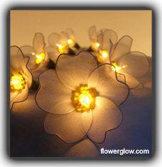 Flower String Fairy lights, Ideal party/ wedding Lighting - FlowerGlow.com