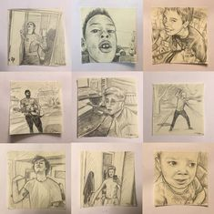 """Popular Vines drawn on sticky notes by Zephani Jong """"i'm rlly bored so here's a vine thread but as bad sticky note doodles."""" @zephanijong"""