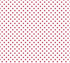 Small Red 1/4 Inch Polka Dots on White Cotton Lycra Knit Jersey Fabric