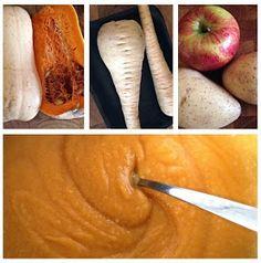 Mums Yummy Food - alles was das kleine Herz begehrt: Butternutkürbisbrei mit Pastinake und Apfel. Das Rezept gibt's hier!