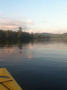 Limekiln lake ny at sunset