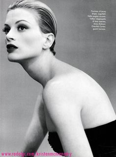 ☆ Kristen McMenamy | Photography by Steven Meisel | For Vogue Magazine Italy | January 1995
