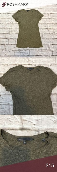 Vince Pima cotton tee Vince. heather grey cotton tee. Size XS. Vince Tops Tees - Short Sleeve