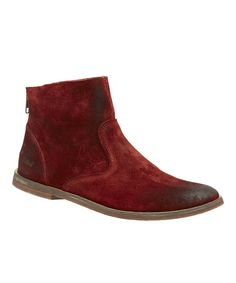 Look at this Kickers Dark Red Roxanne Ankle Boot on #zulily today!