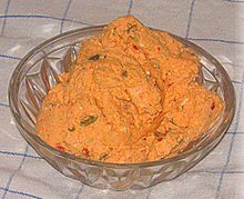 Liptauer is a spicy cheese spread made with sheep milk cheese, goat's milk cheese, quark cheese or cottage cheese. It is a part of the regional cuisine of Slovakia Quark Cheese, Cheese Whiz, Milk And Cheese, Goat Cheese, German Appetizers, Appetizer Recipes, Austrian Recipes, Austrian Food, Hungarian Cuisine