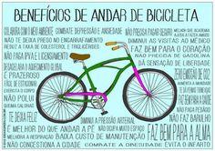 Benefícios de pedalar!