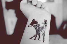 bambi-tattoo-2 my daughter's favorite movie ever. she would die if I came home with this tattoo