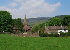 """""""Edale village is in a lovely setting below Kinder Scout and is the start of the Pennine way, the first and longest footpath in England, opened in Northumberland National Park, Northern England, Yorkshire Dales, Peak District, Derbyshire, British Isles, All Pictures, Beautiful Landscapes, Walks"""