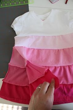 Tiered TShirt Upcycle Dress