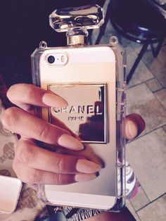 Get excited for this super stylish perfume bottle iPhone 6 plus phone case. Ideal for selfie taking, this stylish IPhone case comes with a handy strap for easy carrying and is sure to turn heads Girly Phone Cases, Iphone Phone Cases, Cell Phone Covers, Chanel Phone Case, Telephone Iphone, Accessoires Iphone, Coque Iphone 6, Cute Cases, Iphone Accessories