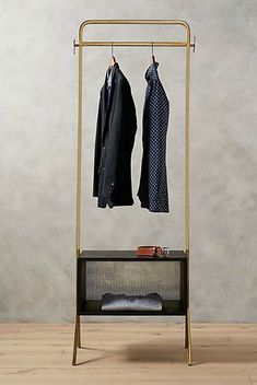 14 clothes racks that store your garments in style - clothes stand Small Scale Furniture, Space Furniture, Furniture Storage, Clothes Stand, Clothes Racks, Oak Clothing, Standing Closet, Drawing Furniture, No Closet Solutions