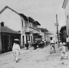 Calle Comercial en Caguas,1900