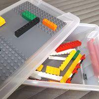 DIY on making a LEGO box and using those little bricks to teach math.  the-tutor-house.com