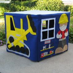 Card Table Playhouse  Construction Site by missprettypretty, $210.00