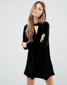 Glamorous Swing Dress With Choker Detail