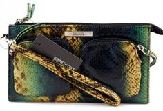 Kenneth Cole Reaction Zip-tip Wristlet Womens Clutch Wallet Multi-snakeskin New - Listing price: $50.00 Now: $19.95 + Free Shipping