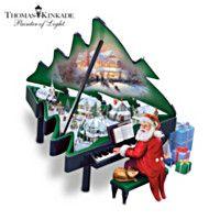 Grand-Noël sculpture musicale de Thomas Kinkade de Santa