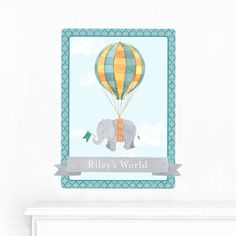 Personalized Wall Decal - Soaring Elephant - $24