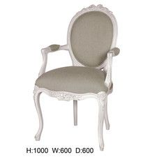 French Ribbon Oval Arm Chair