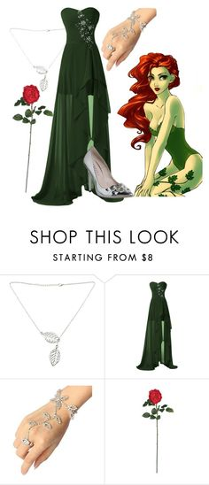 """""""Poison Ivy Formal"""" by uniquefabulous ❤ liked on Polyvore featuring Nearly Natural and Office"""
