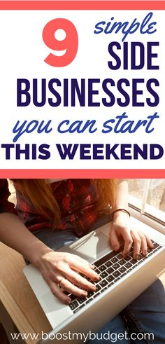 Need more money? Start a side business! This post has 9 easy side business ideas that you can start from home in a weekend. Most of these have no start up costs, and you can make money in just a few hours a week! Start Up Business, Starting A Business, Online Business, Business Tips, Business Planner, Side Business Ideas, Linkedin Business, Baking Business, Cleaning Business