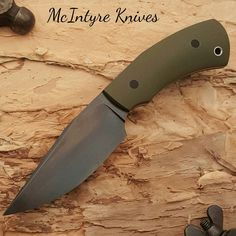 "630 Likes, 12 Comments - Shawn McIntyre (@mcintyreknives) on Instagram: ""And if you're making one you might as well make two... second 1084 Bulldog with OD Green G-10 full…"""