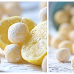 What's not to love about these- so easy and sound wonderful!  White Chocolate Lemon Truffles