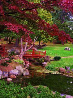 Japanese garden at Sonnenberg Gardens, Canandaigua, New York, USA Garden Theme, Garden Art, Garden Plants, Beautiful Landscapes, Beautiful Gardens, Japenese Garden, Japan Garden, Japanese Garden Design, Japanese Garden Landscape