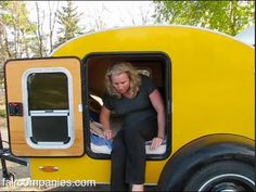 Teardrop trailer: classic 50s mobile micro-home renaissance: Christina and her husband became teardroppers 6 years ago.  Their teardrop is only 40 square feet (8 feet by 5 feet), but she thinks it's enough room (as long as you don't hit long stretches of bad weather) because the outdoors is the rest of your home.