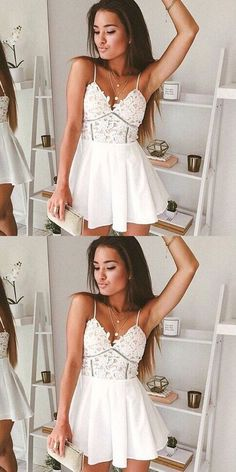 (This homecoming dress, homecoming dresses, short prom dress, chiffon Cute Prom Dresses, Dresses Short, Grad Dresses, Pretty Dresses, Formal Dresses, Elegant Dresses, Sexy Dresses, Graduation Gowns, Prom Gowns