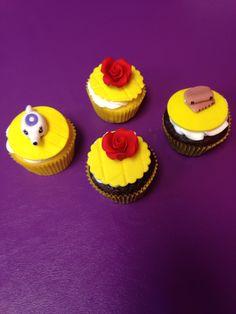 Princess Belle Theme Cupcakes
