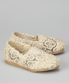 seriously? so cute  Cream Crochet Shoe by Shoes of Soul on #zulily today