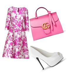 """Bring the spring"" by dixie-jordan ❤ liked on Polyvore featuring Oscar de la Renta and Gucci"