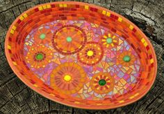 Create this stunning mosaic bowl with tiles and a bowl. detailed project instructions.