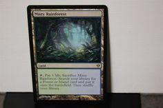 Misty Rainforest Magic The Gathering MTG Trading Card Wizards Of The Coast #WizardsoftheCoast Collectible Cards, Wizards Of The Coast, Magic The Gathering, Mtg, Trading Cards, Island, Frame, Life, Ebay