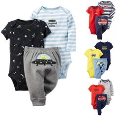 0a8258d59 2016 novo bebê Carter Roupa definido para bebê Roupa Boy Set manga longa e  curta + Calça 100% algodão baby-enxoval. Giliane Melo · Aliexpress - Minhas  ...