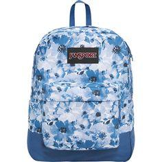 JanSport SuperBreak Backpack - Multi Turkish Dutch Floral - School... ($38) ❤ liked on Polyvore featuring bags, backpacks, blue, backpack bags, day pack backpack, floral print backpack, floral backpack and jansport bags