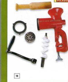 Elementos a usar en la elaboración de los embutidos