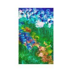 Flowers in the Garden Designer Stretched Canvas Stunning wrapped canvas designed by artist Marie-Jose Pappas of Innocent Originals. www.zazzle.com/innocentoriginals*