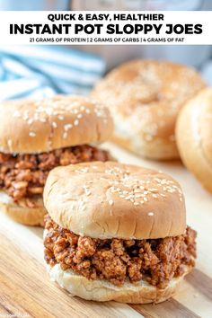 Quick And Easy Instant Pot Sloppy Joes With A High Protein
