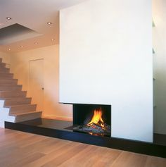 #modern Architecture   Fireplace   Metalfire   Universal   Wood Burning  Open Fireplace Like