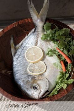 Beautiful pomfret fish/seafood photography.