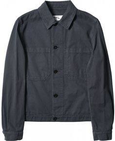 MHL SIMPLE POCKET JACKET COTTON LINEN DRILL